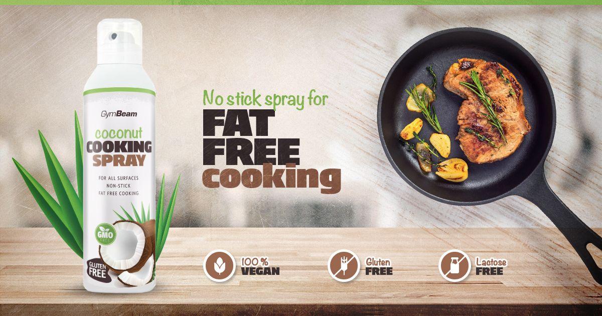 Sprej na varenie Coconut Cooking Spray - kokosový sprej - gymbeam