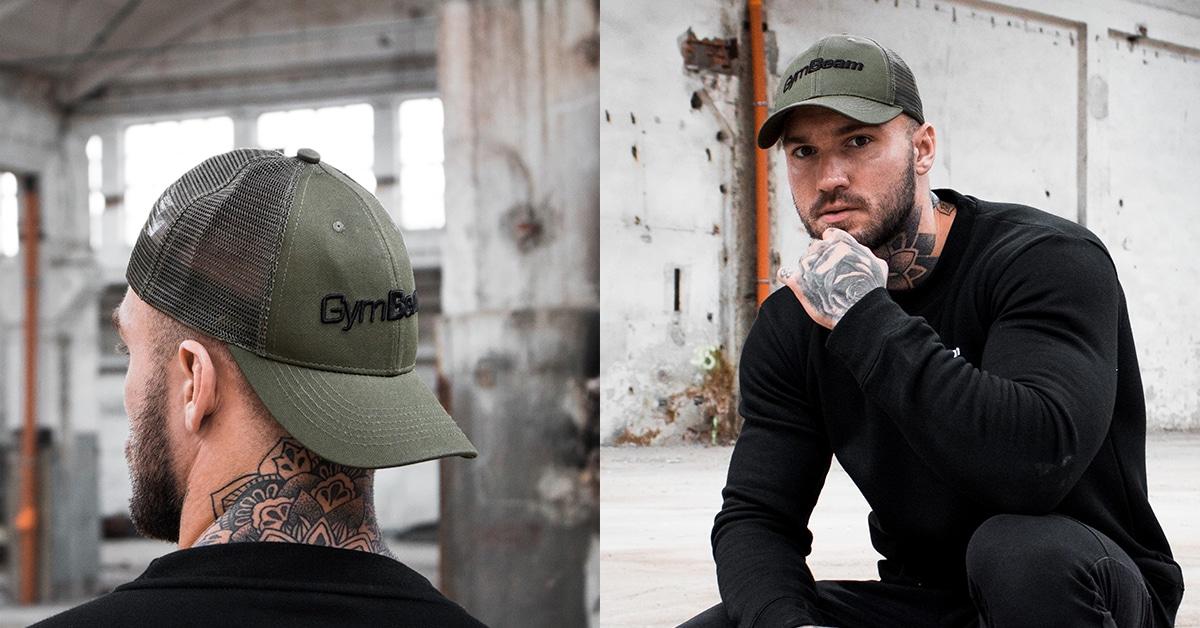 Šiltovka Mesh Panel Cap Military Green - GymBeam