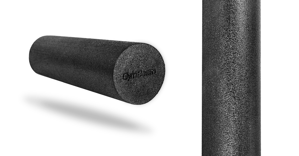 Valec na cvičenie Foam Roller Black - GymBeam