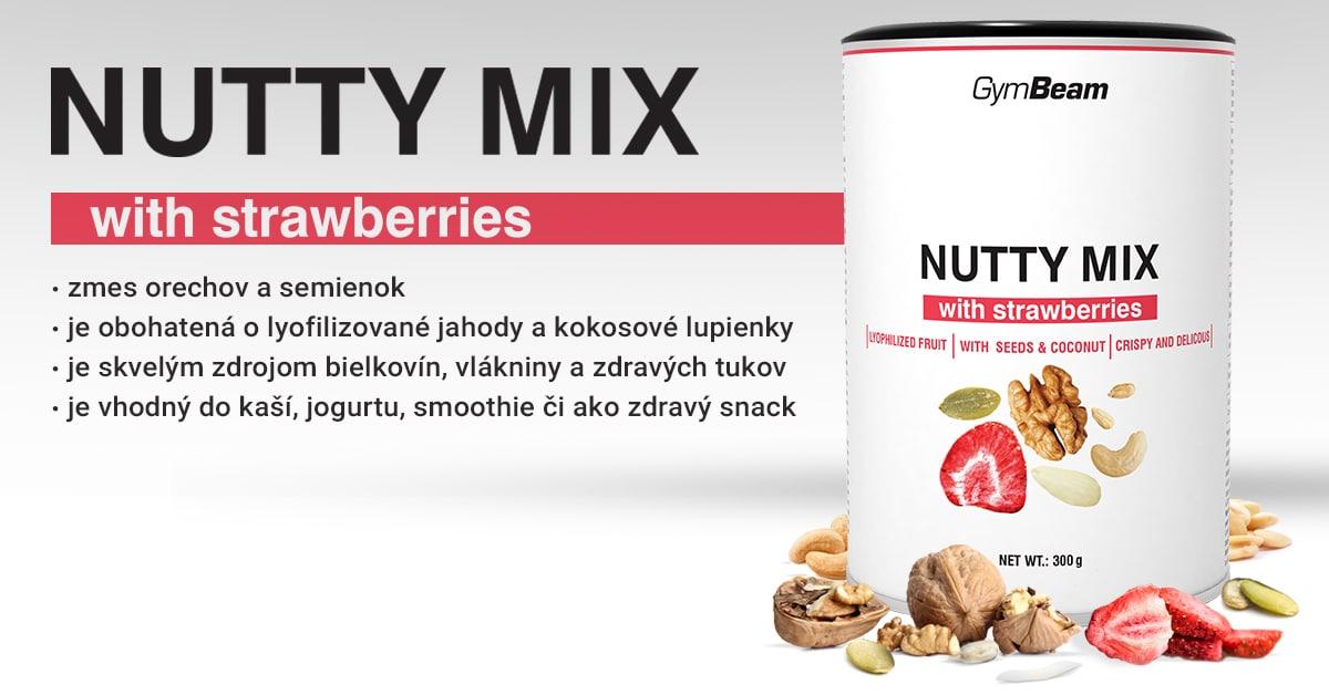 Nutty Mix s jahodami - GymBeam
