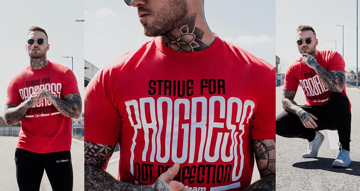 Tričko Progress Red - GymBeam