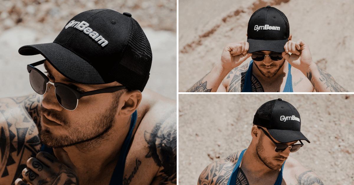 Šiltovka Mesh Panel Cap Black - GymBeam