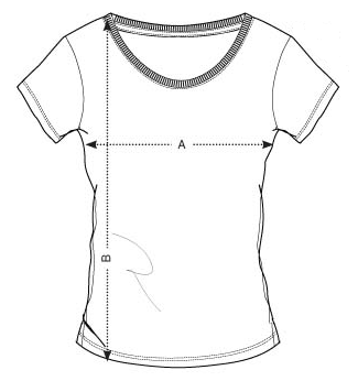 Velikost dámského trička FIT Black - GymBeam