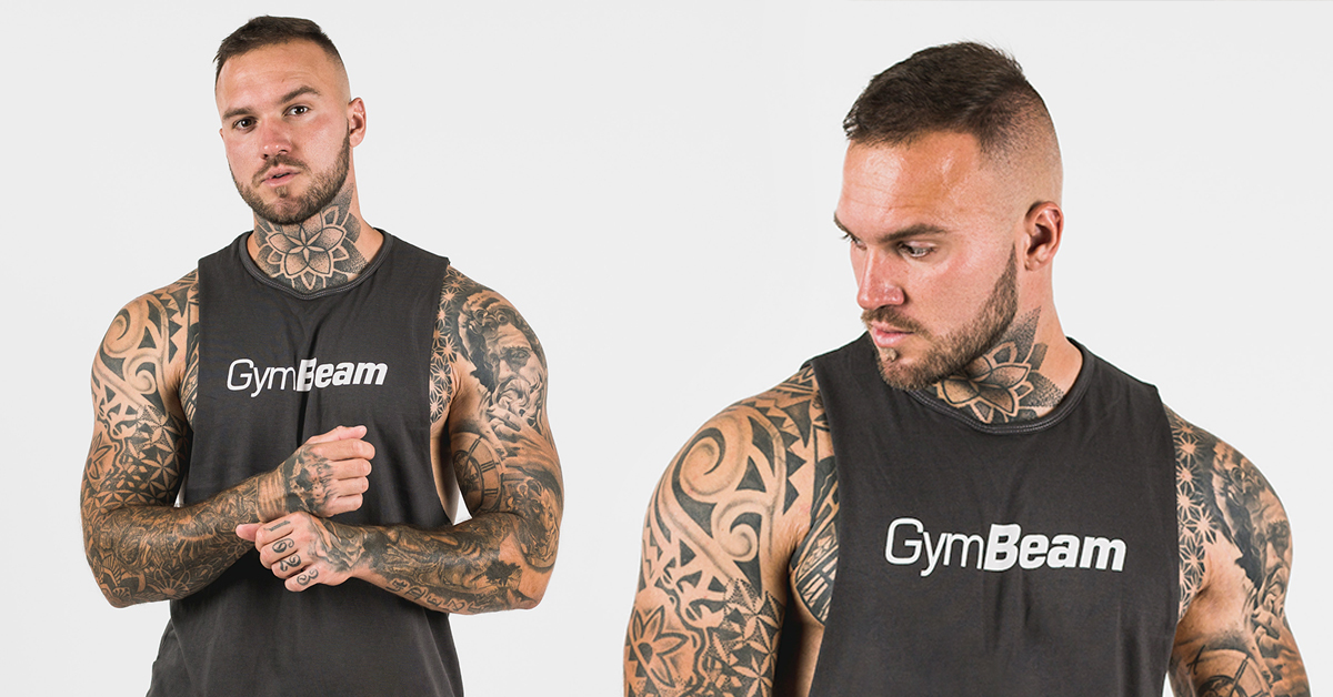 Tielko Cut Off Grey - GymBeam