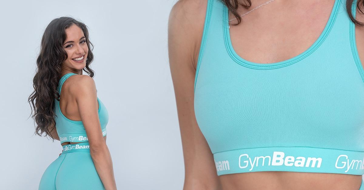 Športová podprsenka Simple Turquoise - GymBeam