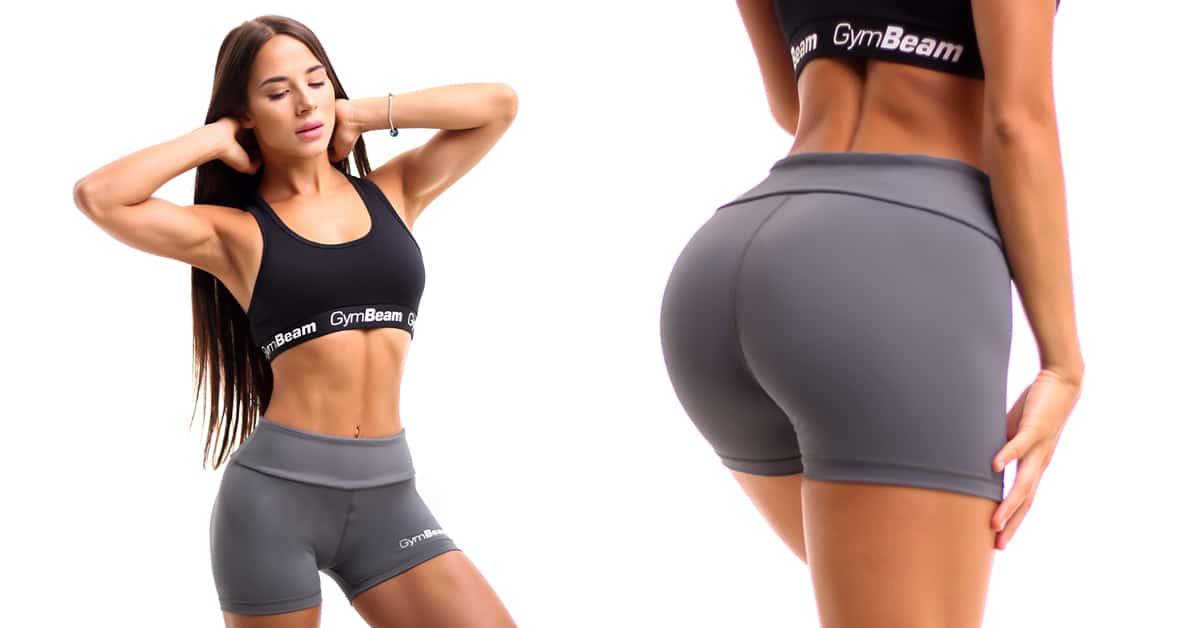 Dámske fitness šortky Fly-By Grey - GymBeam
