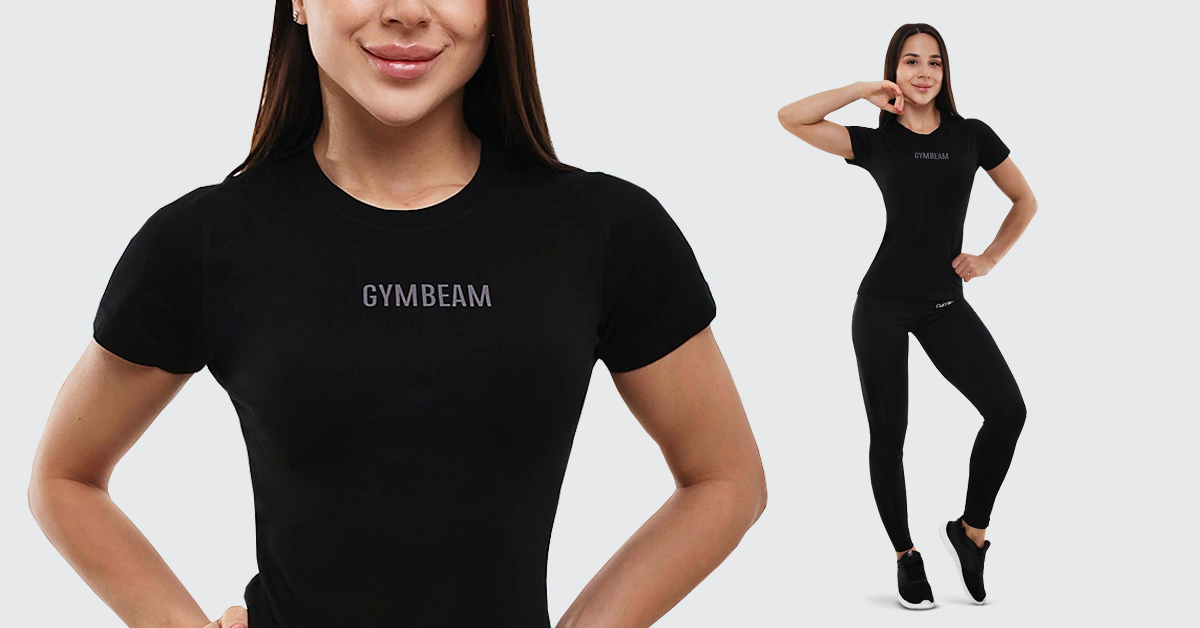 Dámske tričko FIT Black – GymBeam