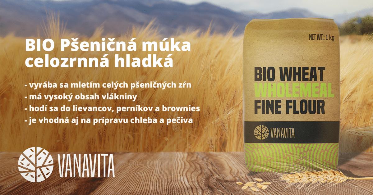 BIO Pšeničná múka celozrnná hladká - VanaVita