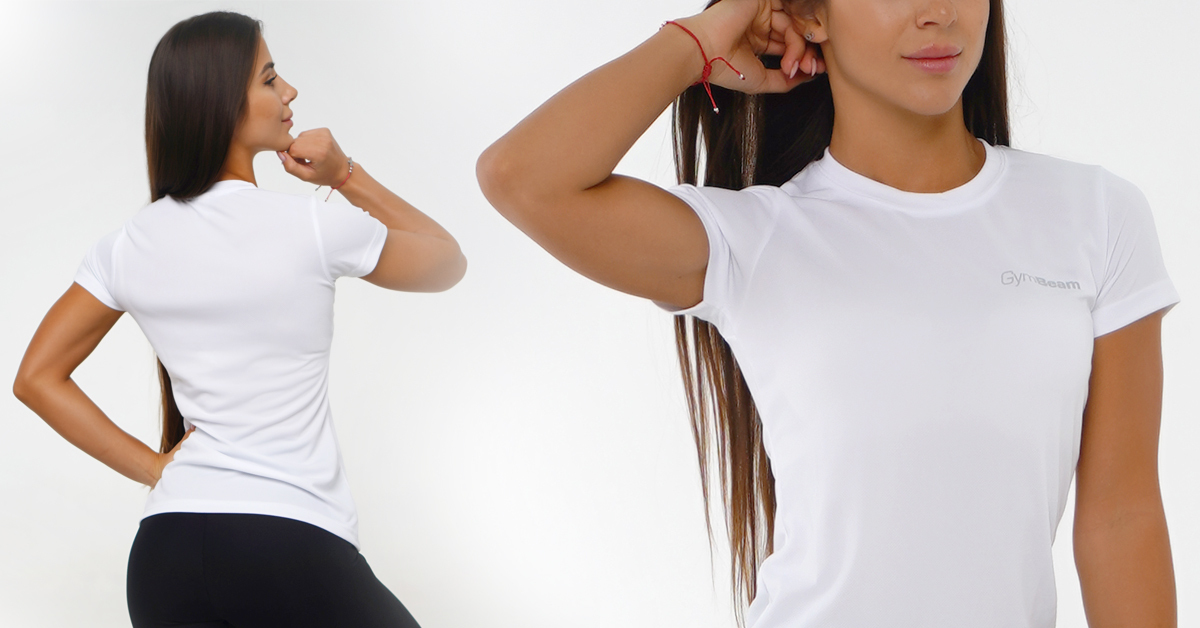 Dámske tričko TRN White - GymBeam